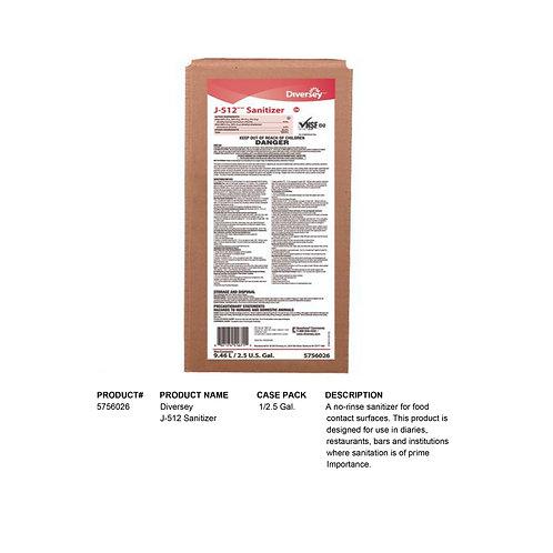Diversey J-512 Sanitizer 1/2.5 Gal