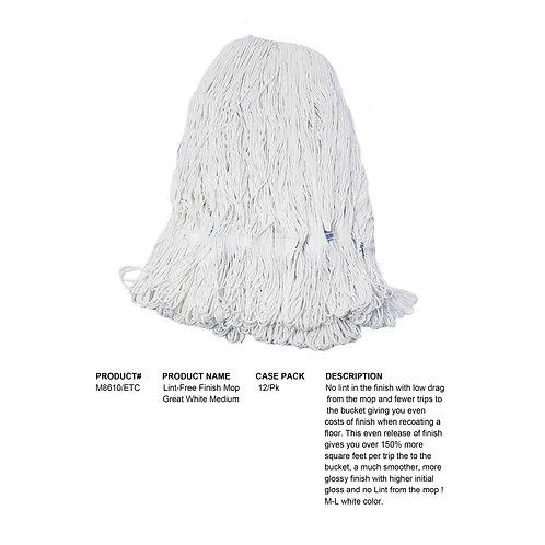 Lint-Free Finish Mop Great White Medium