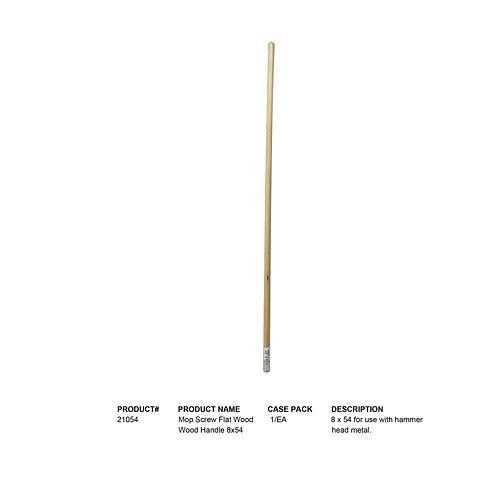 Mop Screw Flat Wood Handle 8x54