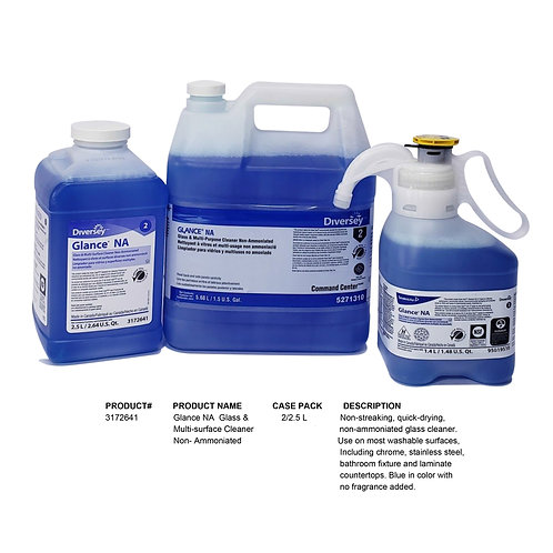 Glance NA Glass & Multi Surface Cleaner Non-Ammoniated 2.5L
