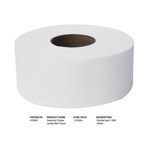 Heavenly Choice Jumbo Bathroom Roll Tissue