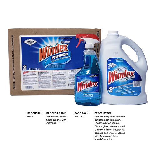 Windex Powerized Glass Cleaner with Ammonia (5 Gal.)