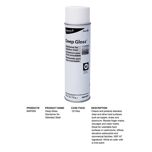 Deep Gloss Maintainer for Stainless Steel