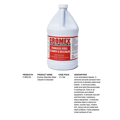 Cromex Stainless Steel Cleaner & Descaler