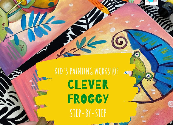 Clever Froggy - Kid's painting workshop