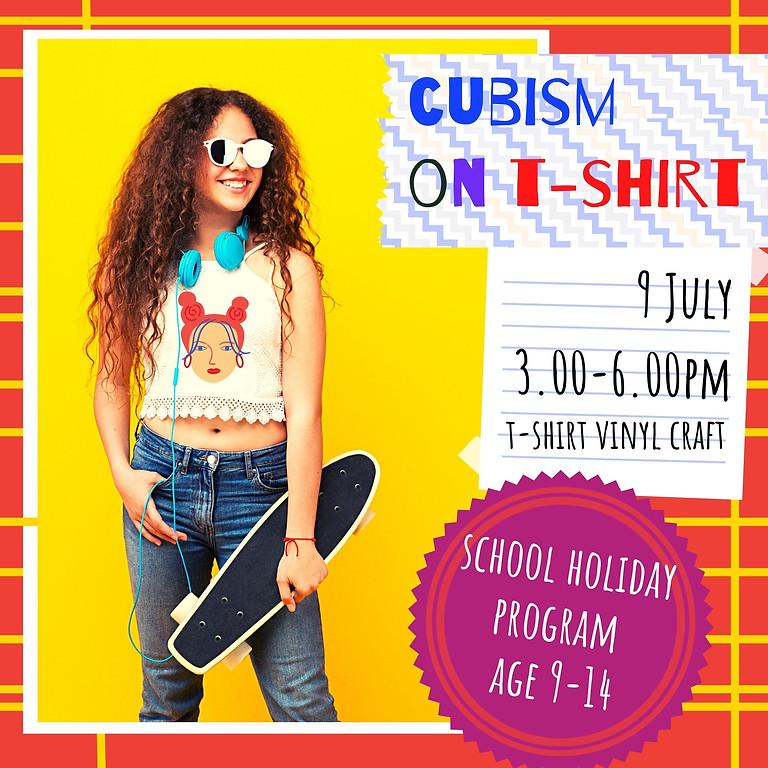 CUBISM ON THE T-SHIRT - school holidays fun workshop