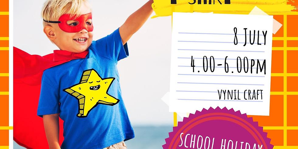 CREATE A SUPERHERO T-SHIRT - school holidays fun workshop
