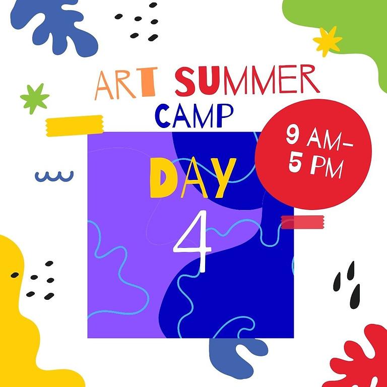 Art Camp - Day 4 - Flowers in parcel Joyce Park.