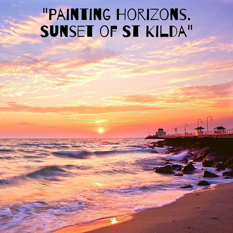 """""""Painting Horizons. Sunset of St Kilda"""""""