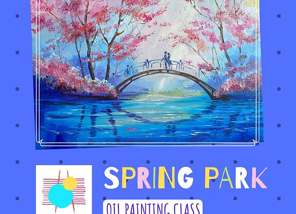 SPRING PARK- Oil Painting Online Workshop