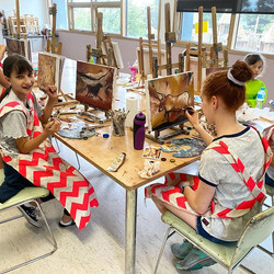 Prehistoric art in progress 🤩 oil paint