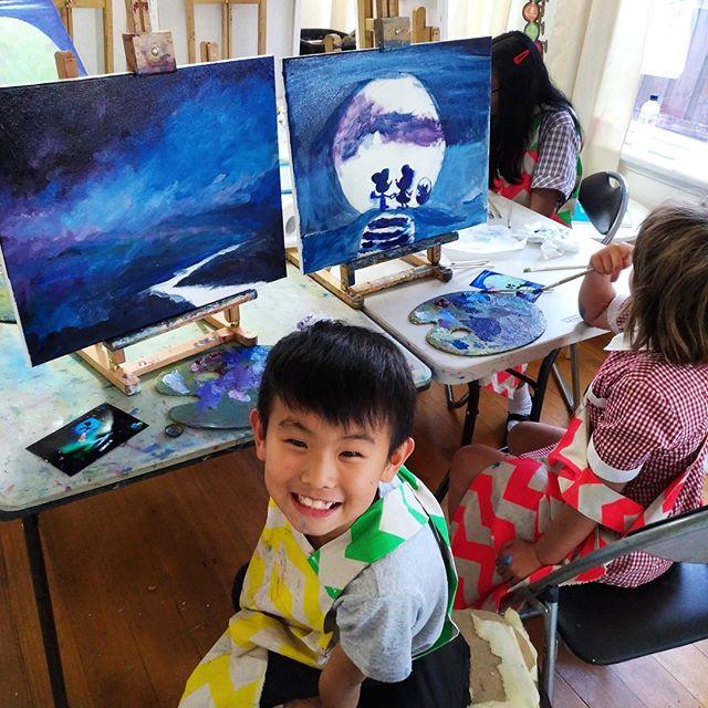 Kids art lesson. Live. Bumblebee Art Cen