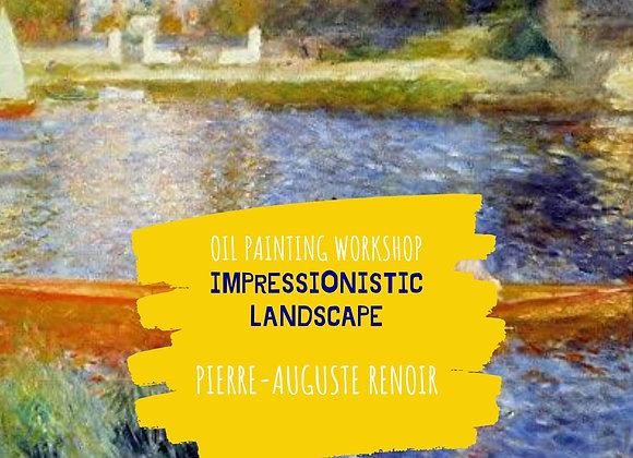 Impressionistic Landscape - Pierre-Auguste Renoir