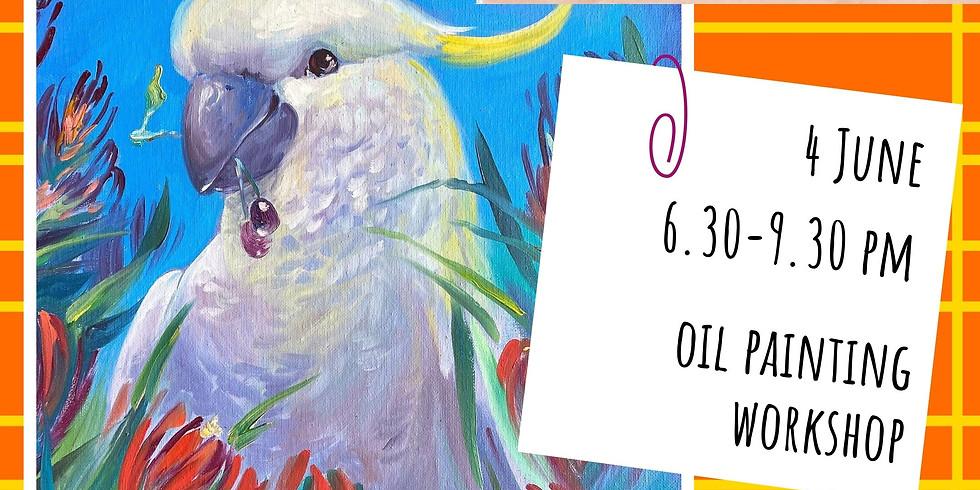 HANDSOME MAN - oil painting social workshop