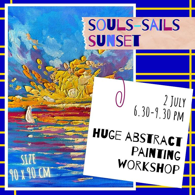 SOULS, SAILS, SUNSET- Expressive art