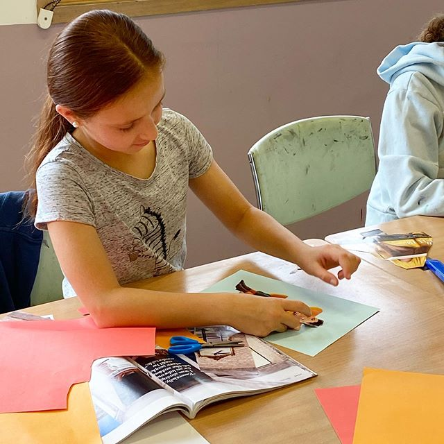 Cutting out magazine pictures and create
