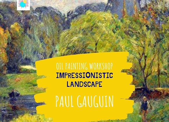 Impressionistic Landscape-Paul Gauguin