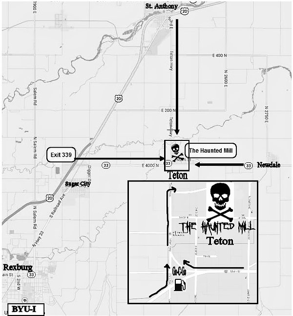 Map to The Haunted Mill