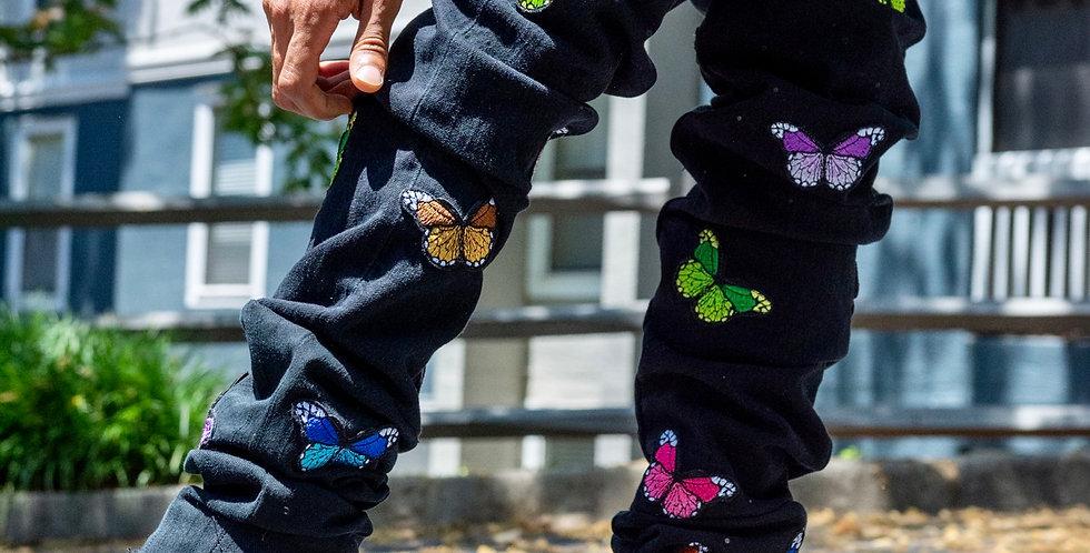 Butterfly Doors Stacked Denim