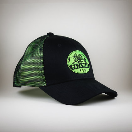 Backroad Bum black/neon green cap