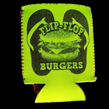 Flip-Flop Lime/Green Koozie