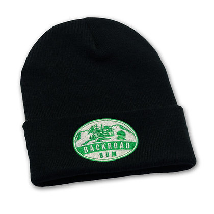 Black/Green Beanie