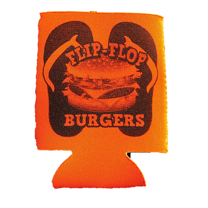 Flip-Flop Orange Koozie
