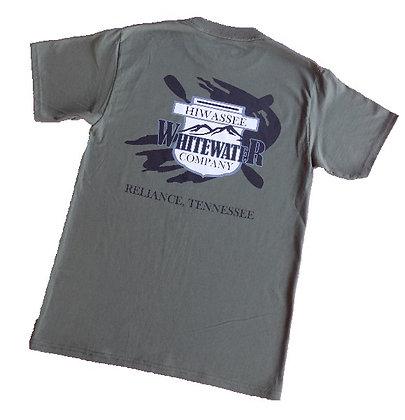 Hiwassee Whitewater Company short sleeve t-shirt - olive