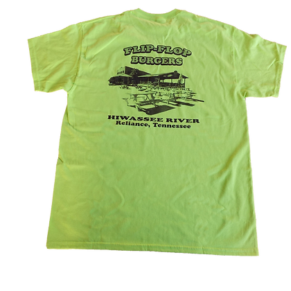 Flip-Flop Burgers original  Lime/Green Short Sleeve Tee Shirt