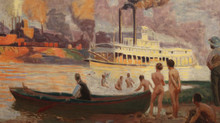 Steamboat on the Ohio, Thomas Anschutz, 1896