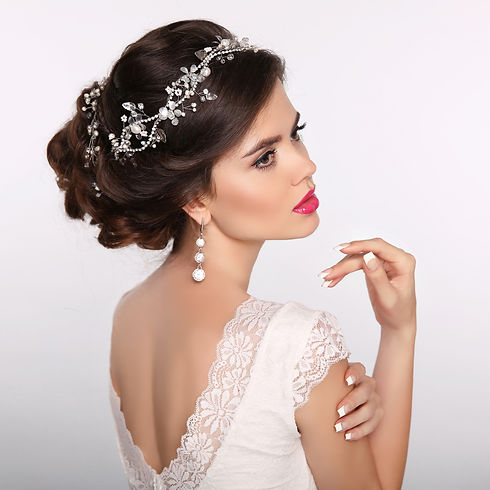 Beauty woman portrait. Wedding Hairstyle
