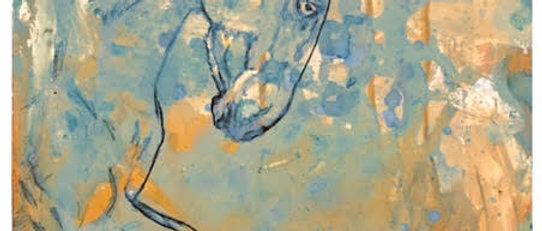 """Spring in Blue"" Canvas Print 40cm x 50cm"