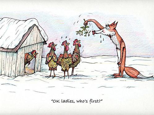 Festive Fox Christmas Card