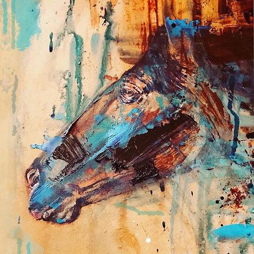The War Horse Ltd Edition Canvas Print