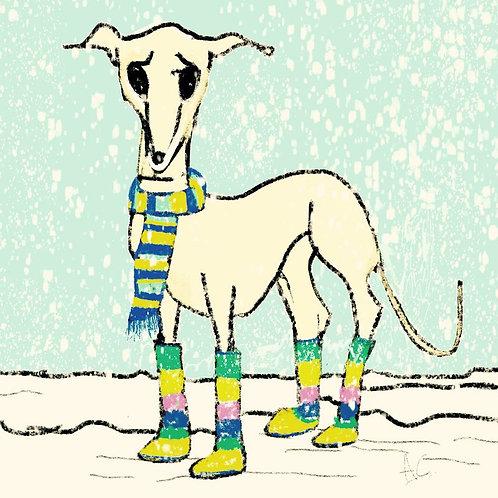 Christmas Greyhound Christmas Card
