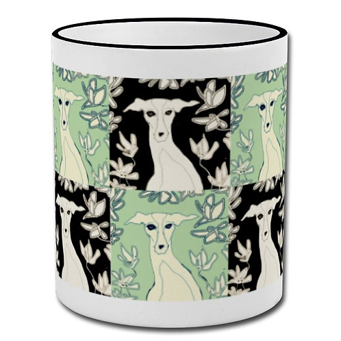 Greyhound & Magnolia Mug