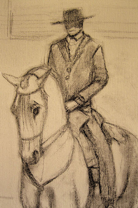Spanish rider - Greeting Card