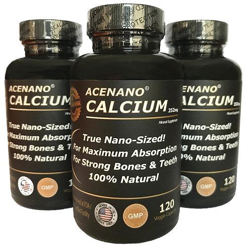 AceNano Calciuim - 3 Bottles - 120 ct/ea - 180 Day Supply