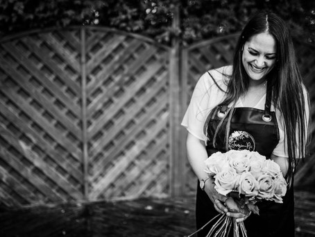 For the love of flowers and photos, a joyful branding session with Woking Florist, Jamie-Ri.