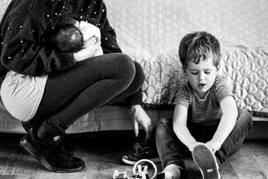Multi tasking Mum documentray photograph