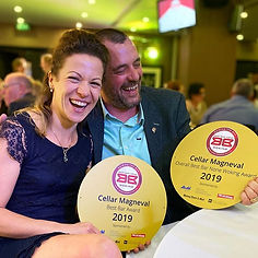 Jo and Thierry winning Best Bar None Awa