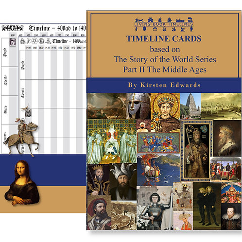The Story of the World 2: The Middle Ages - Timeline Cards and Poster Pack