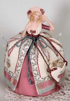 A Christmas Doll Pincushion and Thimble Purse