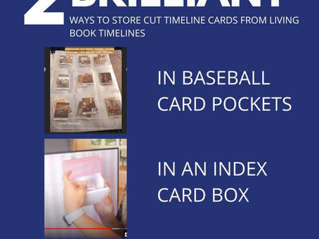 Ways to Store Cut Timeline Cards