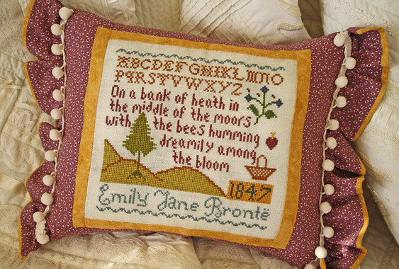 On the Moors with Emily Bronte Pillow