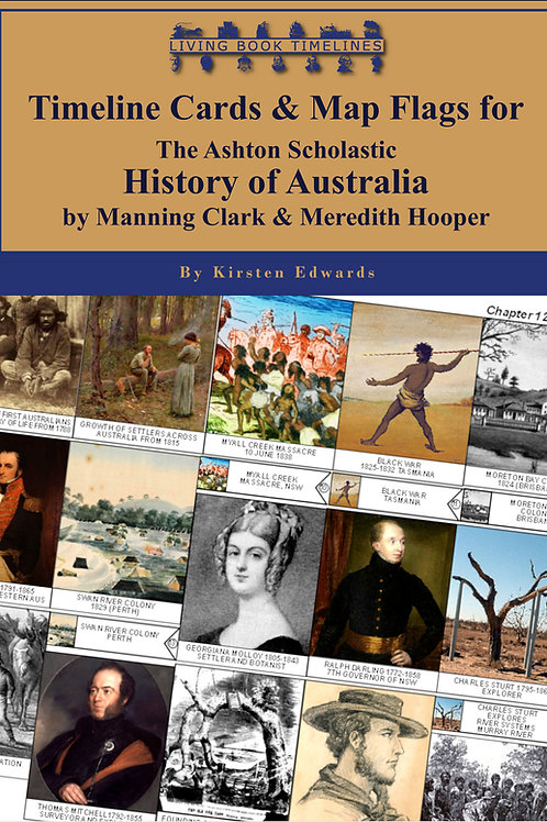 History of Australia Timeline Poster, Card & Flag Bundle