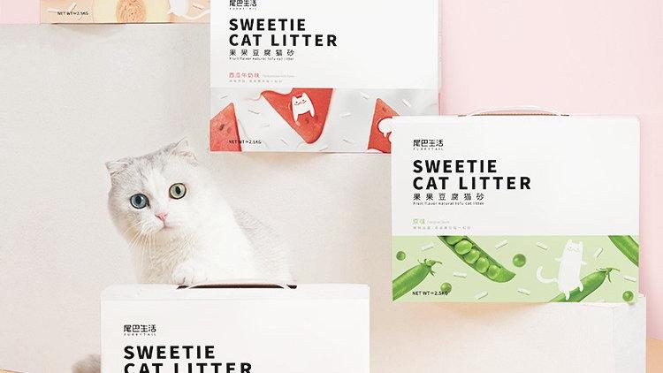 Furrytail Fruit Falvor Natural Tofu Cat Litter 6L