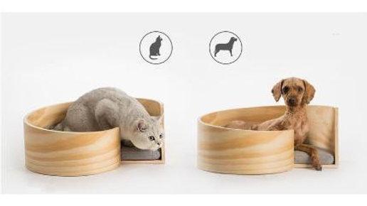 pidan Wooden Pet Spiral Bed