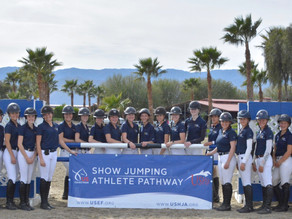 Participants of USHJA Gold Star Clinic - West Learn From Experts in the Sport