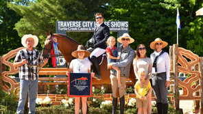 NICK HANESS DOMINATES DERBY COMPETITION DURING WEEK II OF TRAVERSE CITY HORSE SHOW